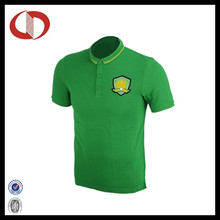 Custom Design Hot Sale Green Soccer Jersey with Collar for Man