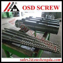 Jwell conical twin screw barrel for PVC pipe extrusion line