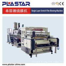 Máquina de película de lldpe de colada estirada de una sola capa de 1000 mm