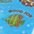 Etiquetas subaquáticas felizes do mundo do mar Angelfish, tubarões, estrela do mar, hipocampo - etiquetas dos peixes da espuma do oceano do PVC para o miúdo
