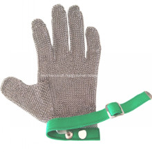 Luvas de aço inoxidável de proteção de dedos