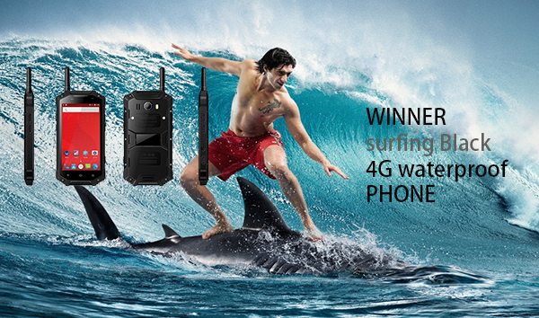 WINNER surfing Black 4G waterproof PHONE