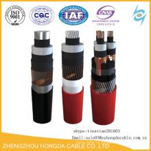 Cable de alimentación de alto voltaje de 33 kv Cable subterráneo de núcleo de cobre único de 35 50 70 95 120 150 185 240 mm2