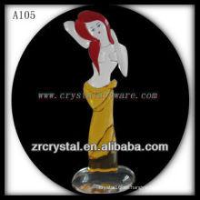 Bonita estatuilla de animales de cristal A105