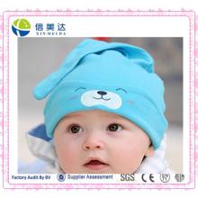 Bebê recém-nascido recheado 100% algodão bebê dormindo chapéu