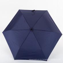 El mejor mini paraguas plegable compacto para lluvia con estuche