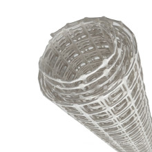 White color 40 kN high strength coal mining supporting/protecting plastic mesh biaxial geogrid