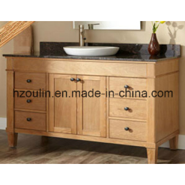 Wooden Marble Top Bathroom Vanity (BA-1138)