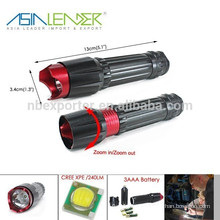 Water Resistant Lamp Cree XPE LED 3 Mode Handheld Tactical Torch for Outdoor Sports and Indoor Activities