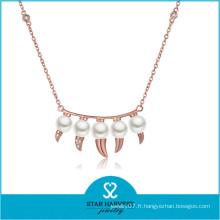 Charme Lady Fashion eau douce pendentif qualité bijoux en laiton (N-0330)