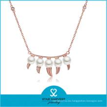 Collar de acero largo de diamante popular 2015 (N-0300)