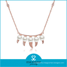 2015 Popular Diamond Long Steel Necklace (N-0300)