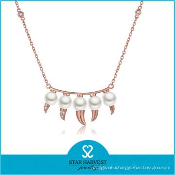 2015 Popular Diamond Long Steel Necklace (N-0300)