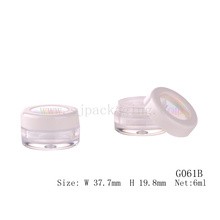 6ml cosmetic packaging loose powder small plastic case empty loose powder jar
