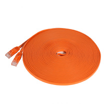 Orange flat RJ45 10m cat6 utp patch cord