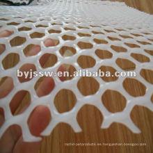 malla blanca de malla plana de plástico