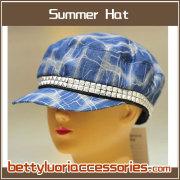 Moda chapéu com pedra