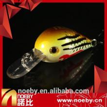 Minnow appuie des appâts de manivelle en plastique résistant à la pêche en plastique avec vmc hook