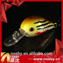 Minnow lures hard plastic fishing lure abs crank baits with vmc hook