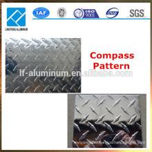 Patrón de brújula y barra de aluminio de cinco barras