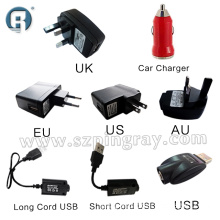 2014 EGO E Cig Car Charger/Wall Charger Adapter/USB Charger for Electronic Cigarette