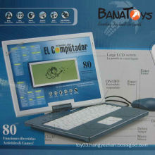 Intelligent English and Spanish kids laptop learning machine