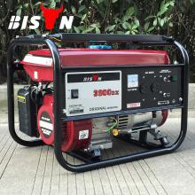 BISON China Taizhou Gerador de gasolina design 3KW Elemax com AC DC de fase única