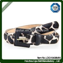 2016 weibliche Spitzenqualitätspin-Wölbungs-Gurt-reizvolle Leopard-Gurt-Dame-Leder-Gürtel