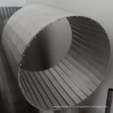 Wire-Wrapped de tubo de aço inoxidável tela