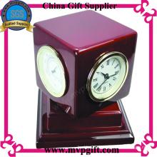 Horloge en bois personnalisée avec fonction multiple