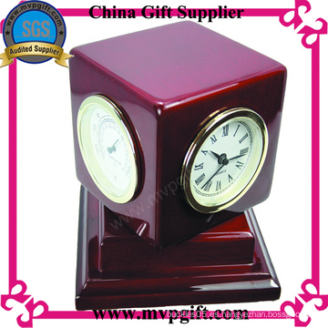 Reloj de madera personalizado con función multi