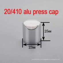 20/410 Alu / Plastic Screw Pump Shampoo Capa de garrafa / Pressione Top Cap