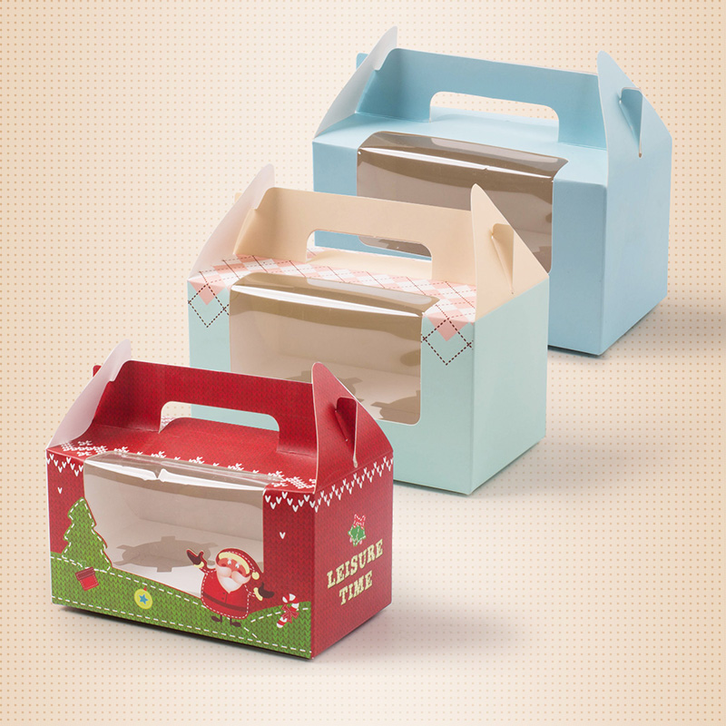 Mini Single Cupcake Verpackung Box mit Fenster