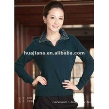 Кашемировый свитер женщин поло шеи