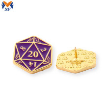Promotional Gift Metal Custom Dice Pin Badge