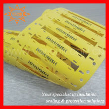 Marcador amarelo para cabos e fios