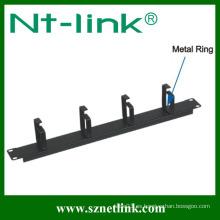 4 piezas de metal ring cable manager