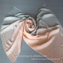 Bufanda de cachemira airbrushed colorida superior