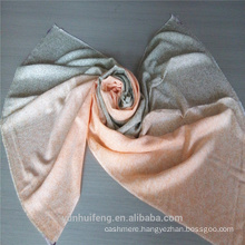 Superior colorful airbrushed cashmere scarf