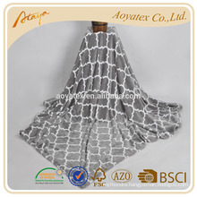 Lantern printed Aoyatex cheap flannel fleece blanket