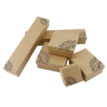 Leading for Printing Paper Box Cheaper Kraft Packaging Jewelry Box with Sponge export to United States Wholesale