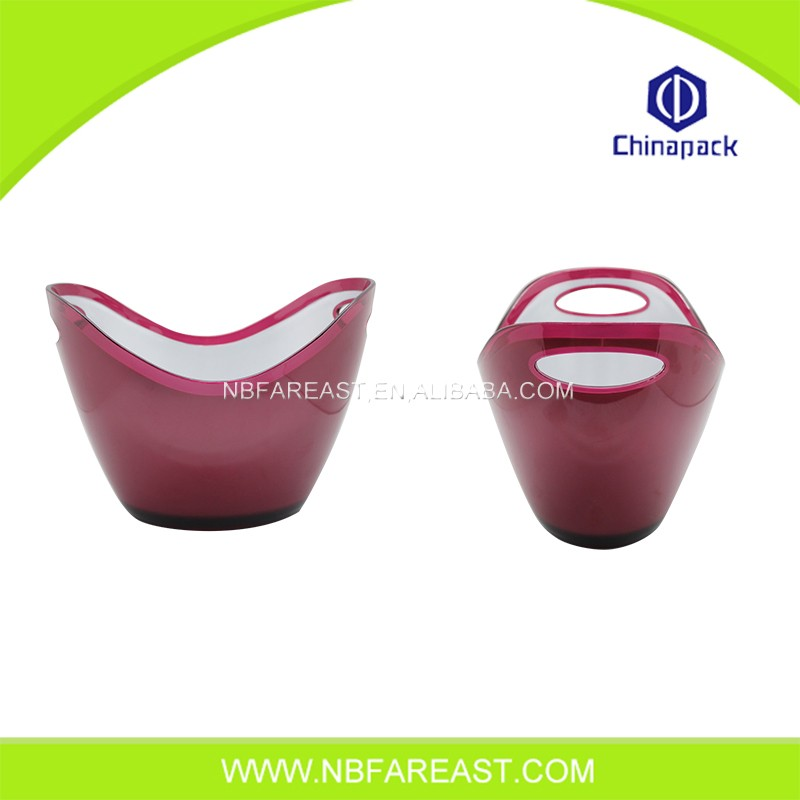 Direct factory price red plastic ice bucket