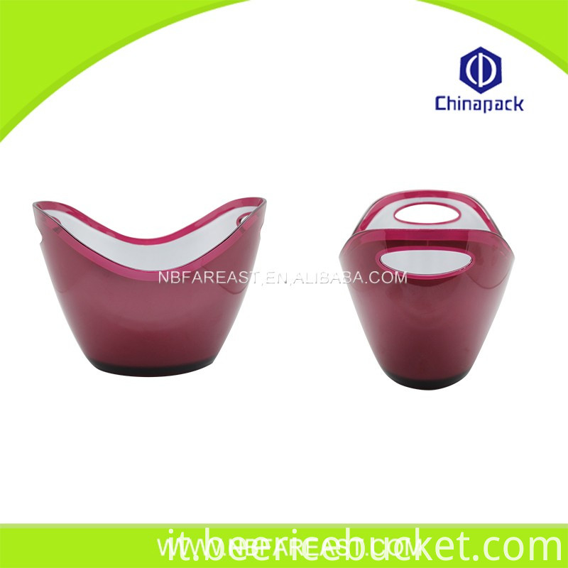 Promotion custom red plastic ice bucket