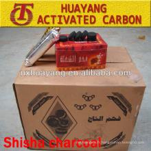 (temps de combustion 1,6 heures / pc) 28mm 33mm 38mm 40mm charbon de narguilé rond pour narguilé