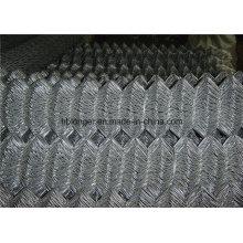 Heiß-eingetauchtes galvanisiertes Kettenglied-Maschendraht-Fechten / Diamant-Maschendraht