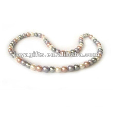 Hematite Pearl beaded Necklace