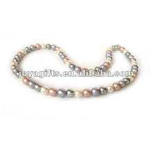 Жемчужное ожерелье из бисера с гематитом