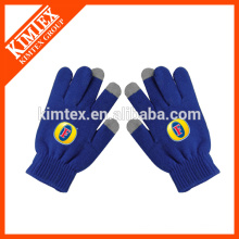 Wholesale knit acrylic touchscreen gloves