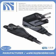 UE 3-Prong cable de alimentación 2Pin Cable de alimentación para portátil Negro