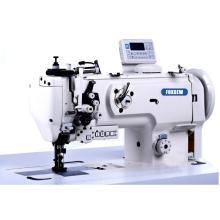 Agulha dupla Agulha tripla de alimentação Barra de agulha dividida Máquina de costura para sofá com aparador de linha automático.